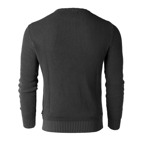 Free 3-day Shipping - ZIMEGO Mens Long Sleeve Stone Washed Vintage Crewneck Pullover Sweater