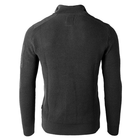 Free 3-day Shipping - ZIMEGO Mens Long Sleeve Pullover Quarter Zip Mock Neck Polo Sweater with Pocket