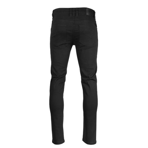 Victorious by ZIMEGO - Mens Skinny Fit Stretch Twill Pants - BLACK
