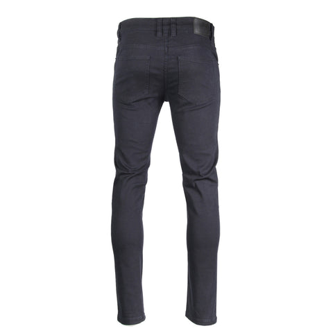 Victorious by ZIMEGO - Mens Skinny Fit Stretch Twill Pants - NAVY
