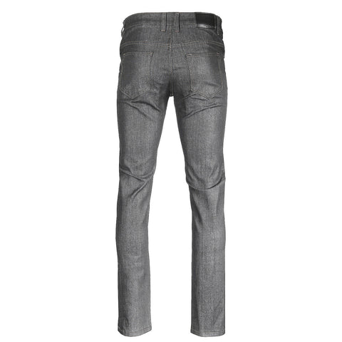ZIMEGO Men's Slim Cut Skinny Fit Stretch Raw Denim Pants Classic Five Pocket Jeans - RAW GREY