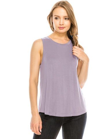 ZIMEGO  Women's Tank Top Relaxed Fit Sleeveless Swing Tee Shirt Blouse