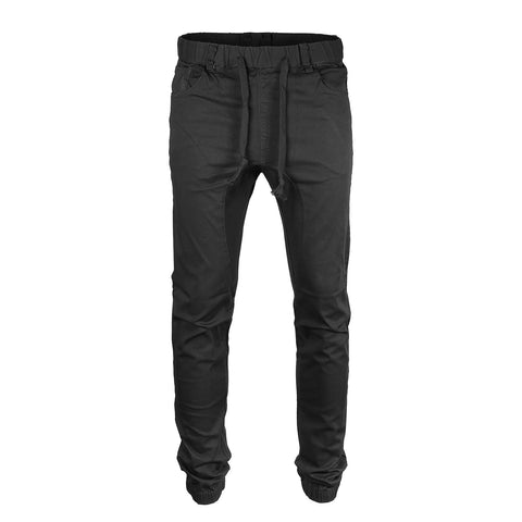 Victorious by ZIMEGO - Mens Twill Jogger Pants - Black