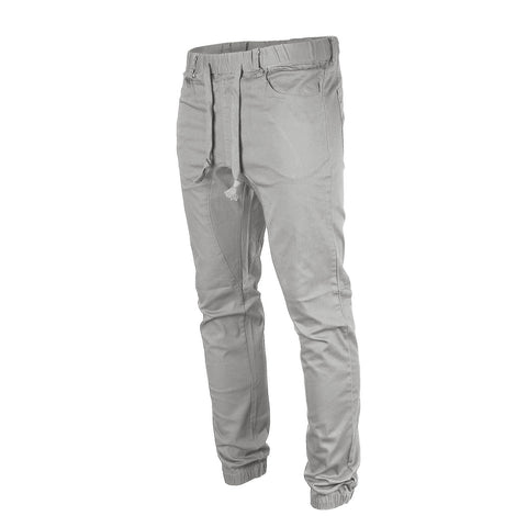 ZIMEGO - Mens Twill Jogger Pants - Dark Grey