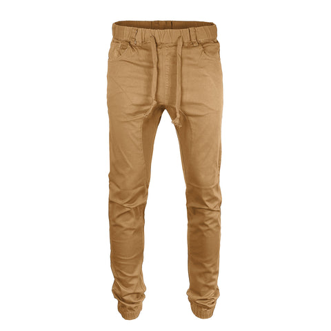 Victorious by ZIMEGO - Mens Twill Jogger Pants - Wheat