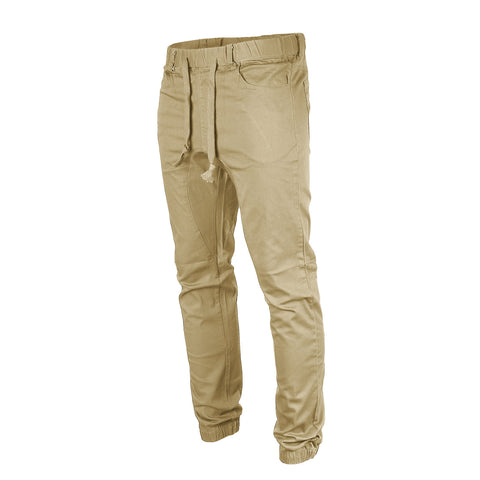 Victorious by ZIMEGO - Mens Twill Jogger Pants - KHAKI