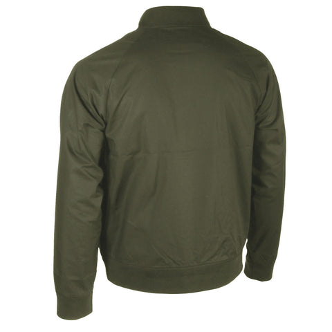 Men's Military Green & Black Bomber Jacket with Side Pockets Military Green