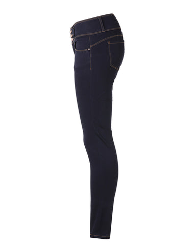 ZIMEGO Women's High Waisted Stretchy Skinny Jeans Distressed Denim Pants