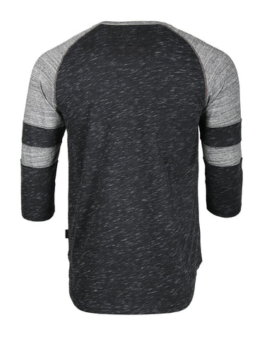 ZIMEGO Men's 3/4 Sleeve Baseball Football College Raglan Henley Athletic T-shirt