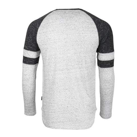 ZIMEGO Men's Long Sleeve Athletic Contrast Stripes Arm Raglan Henley - ZGLS146