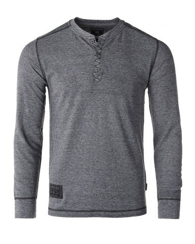 ZIMEGO Men's Long Sleeve Lightweight Waffle Thermal Henley T-shirts