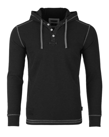 ZIMEGO Men's Thermal Long Sleeve Lightweight Fashion Hooded Henley