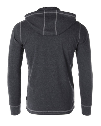 ZIMEGO Mens Vintage Dyed Thermal Long Sleeve Lightweight Fashion Hooded Henley