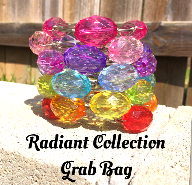 Grab Bag! Radiant Collection in 10 Colors - 30mm Faceted Acrylic Ovals - Swoon & Shimmer - 1