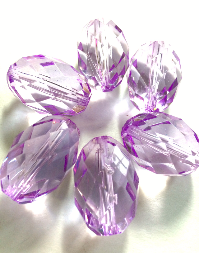 "Lilac in the ""Radiant Collection"" - 30x20mm Faceted Oval Beads - Beads for Bangles or Jewelry Making - Swoon & Shimmer - 2"