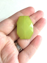 Lime Green 35x24mm large slab faceted acrylic bracelet new necklace bangle 35mm - Swoon & Shimmer - 2