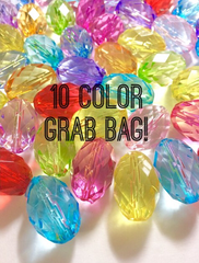 Grab Bag! Radiant Collection in 10 Colors - 30mm Faceted Acrylic Ovals - Swoon & Shimmer - 3