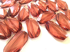 Large ROSE GOLD Gem Stone Beads - Acrylic Beads that look like stained glass for Jewelry Making-Necklaces, Bracelets, or Earrings! 45x25mm Stone - Swoon & Shimmer - 1