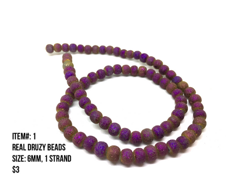Sale Item #1 Real Druzy Strands