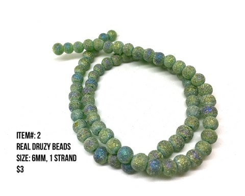 Sale Item #2 Real Druzy Strands