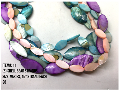 Sale Item #11 Shell Bead Strands