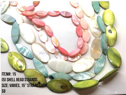 Sale Item #15 Shell Bead Strands