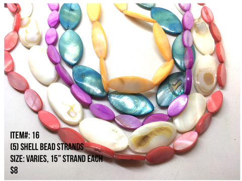 Sale Item #16 Shell Bead Strands