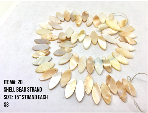 Sale Item #20 Shell Bead Strands