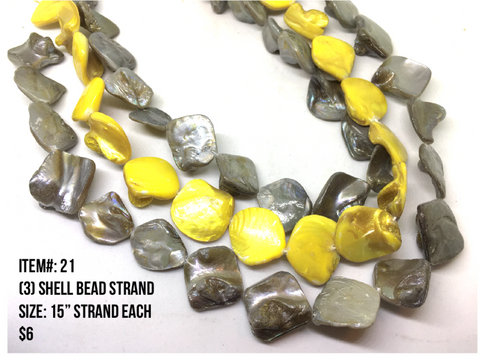 Sale Item #21 Shell Bead Strands