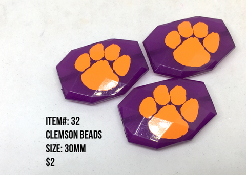 Sale Item #32 Decal Bead Lot