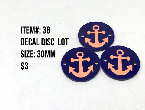 Sale Item #38 Decal Disc Lot