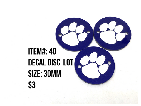 Sale Item #40 Decal Disc Lot