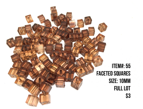 Sale Item #55 Faceted Squares