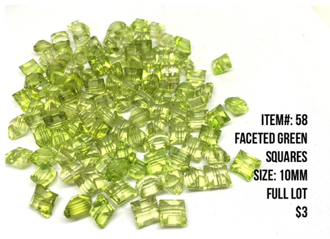 Sale Item #58 Faceted Green Lot