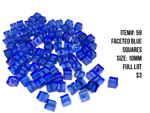 Sale Item #59 Faceted Blue Lot