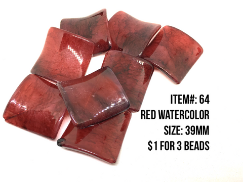 Sale Item #64 Red Watercolor Lot