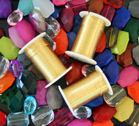 45 Foot Roll of Gold Wire - 20 Gauge Wire for Jewelry Making - Tarnish Resistant - Top Quality! - Swoon & Shimmer