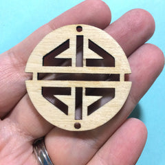 Laser Cut Wood Decorative Circle Shapes - ideal for wire bangle bracelets and jewelry making