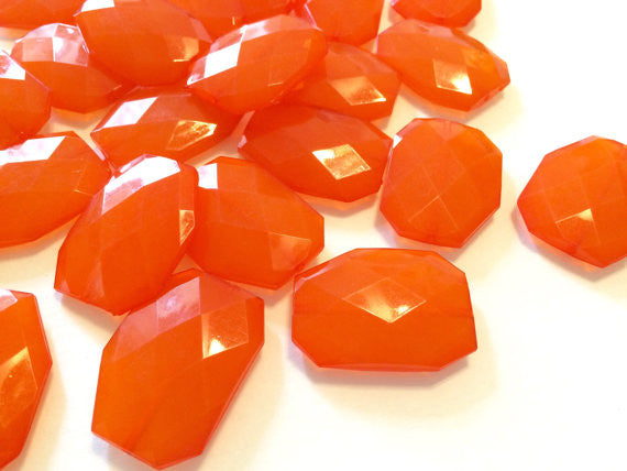 XL 39mm Tangerine Orange Beads, Chunky Acrylic Beads, Jewelry Making, Necklaces, Bracelets, Earrings Making, Statement Necklaces - Swoon & Shimmer