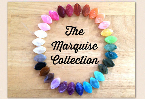 The Marquise Collection, 30x21mm Beads, big acrylic beads, multi color jewelry, bracelet necklace earrings, jewelry making, acrylic beads