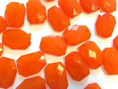 XL 39mm Tangerine Orange Beads, Chunky Acrylic Beads, Jewelry Making, Necklaces, Bracelets, Earrings Making, Statement Necklaces