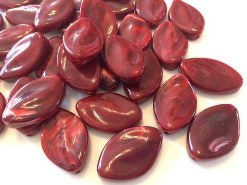 Red Beads, The Marquise Collection, jewelry beads, 30x21mm Beads, bangle beads, big acrylic beads, red jewelry, dark red beads
