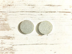 Acrylic Earring Blanks, Silver Glitter Acrylic, 16mm earring circles, monogram jewelry, monogram earrings, acrylic blanks, circular earrings, acrylic circles cut