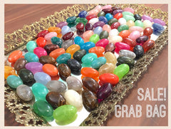 Grab Bag SALE! The Beach Collection, 32mm Oval Beads, Big Acrylic beads, Big Beads, Bangle Beads, Wire Bangle, Beaded Jewelry, multi-color