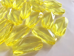 Large Sunflower Yellow Gem Stone Beads - Acrylic Beads, Jewelry Making, Necklaces, Bracelets, or Earrings, 45mm beads, yellow beads