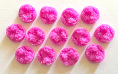 12mm Druzy Cabochons, Dark Pink, jewelry making kit, earring set, diy jewelry, druzy studs, 12mm Druzy, cabochon, stud earrings