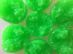 12mm Druzy Cabochons, Neon Green, jewelry making kit, earring set, diy jewelry, druzy studs, 12mm Druzy, cabochon, stud earrings,