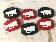 MEGAPHONE cheerleader beads, Choose your bead color, school colors beads, bangle beads, wire bangle, cheerleader mom, cheerleader jewelry