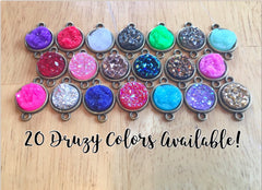 Druzy Connector Beads, Colorful Druzy Beads, gold or silver druzy beads, druzy beads, rings, earrings, necklaces, bangle bracelets bangle