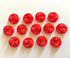 12mm Druzy Cabochons, Red, jewelry making kit, earring set, diy jewelry, druzy studs, 12mm Druzy, cabochon, stud earrings